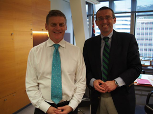 Meeting with Hon. Bill English, New Zealand's Minister of Finance, May 13